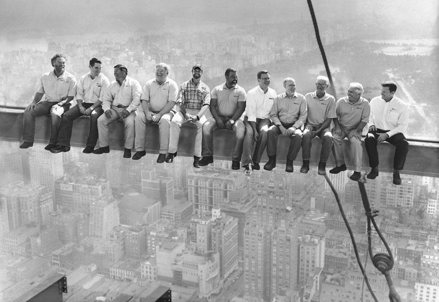 AG|CM men sitting on classic ibeam photo